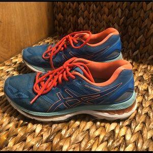 ASICS Gel Nimbus 19 T750n blue Athletic Shoes Sz 7